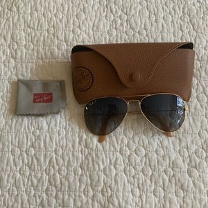 Ray Ban Polarized Aviator Gradient *Like New*